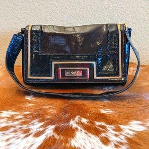 Vtg Anya Hindmarch Target Leather Baguette